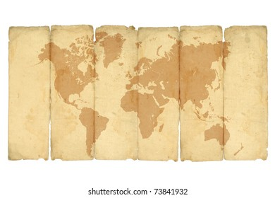 Old world maps stock illustrations images vectors shutterstock crumpled vintage world map on white gumiabroncs Image collections