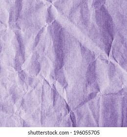 crumpled violet rough paper