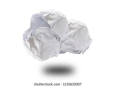 Crumpled white paper demands most yawa finance ideas