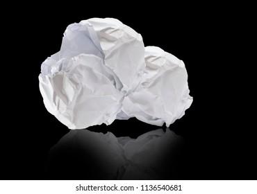 Crumpled white paper demands most finance ideas