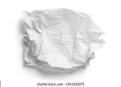 Crumpled white paper napkin - unused