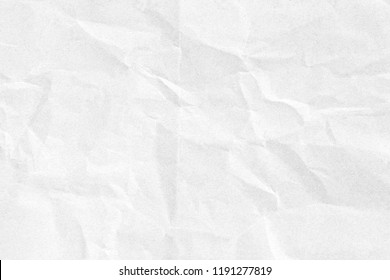 Crumpled white paper texture - Shutterstock ID 1191277819