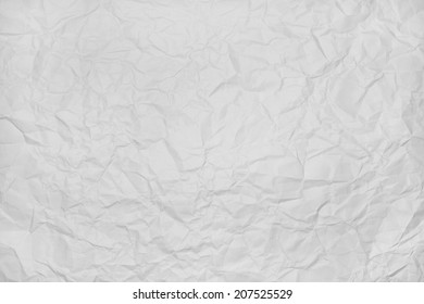crumpled white paper texture for background