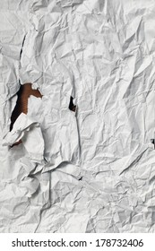 crumpled wrapping paper recycled