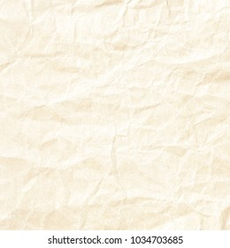 Crumpled Yellow Background Paper Texture