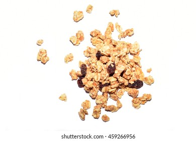 Crunchy cereals isolated on white