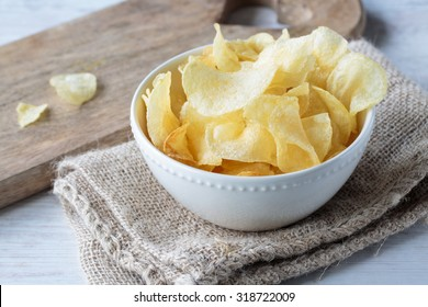 Crunchy delicious potato chips for a tasty snack break
