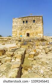 The Crusader Castle in Tzipori (Sepphoris) National Park, Northern Israel