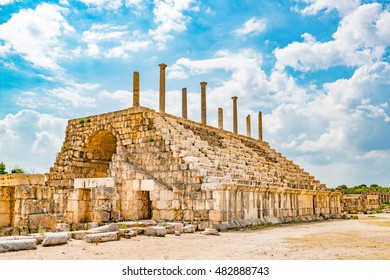 Crusader church in Tyre, Lebanon. It is located about 80 km south of Beirut. Tyre has led to its designation as a UNESCO World Heritage Site in 1984.