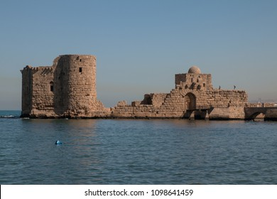 Crusader sea castle, Sidon, Lebanon, Middle East