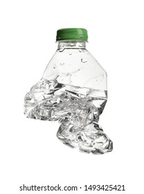 Crush Plastic Bottle with Water