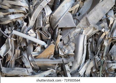 crushed aluminum electrical tubing