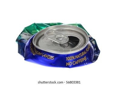 Crushed can.