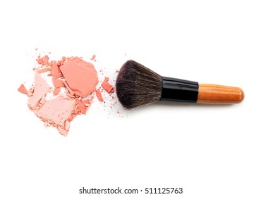 Crushed eyeshadow with brush for background