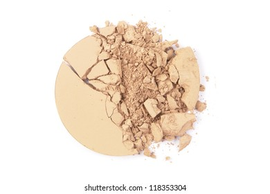 Crushed EyeShadow sample on white for magazine