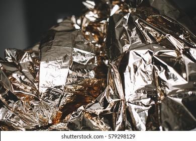 Crushed foil