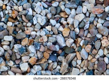 crushed granite and pebble gravel texture