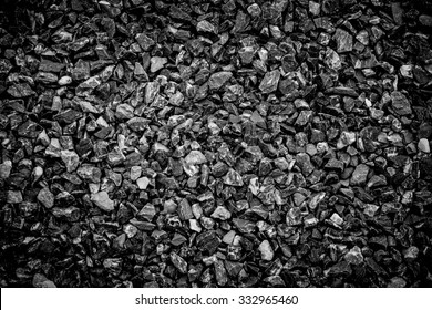 Crushed gravel as background or texture ,Background of   granite gravel