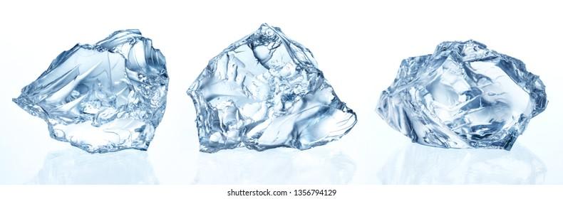 Crushed ice isolated