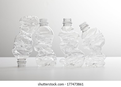 Crushed Plastic Bottles