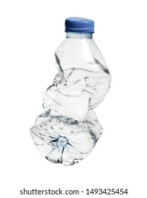 Crushed Plastic Water Bottle Empty