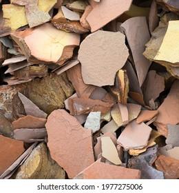 crushed rocks rock oil shale