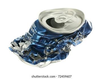Crushed soda can.
