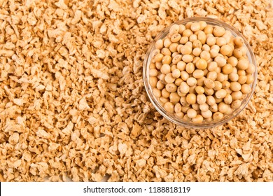 Crushed soybeans - Glycine max. Top view