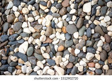 crushed stone on the seashore background