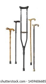 crutches for walking isolated on white background