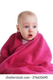 crying baby girl didn't like bath