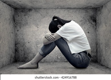 Image result for teenage girl bent over crying
