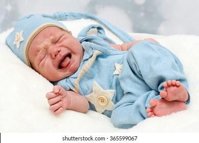 Crying little baby newborn