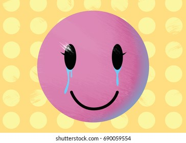 Crying Smiley Face