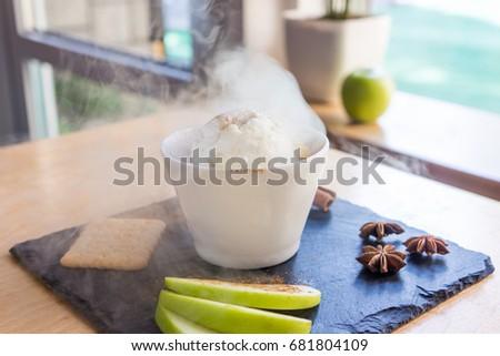 Cryogenic Ice Cream Liquid Nitrogen White Stock Photo (Edit Now