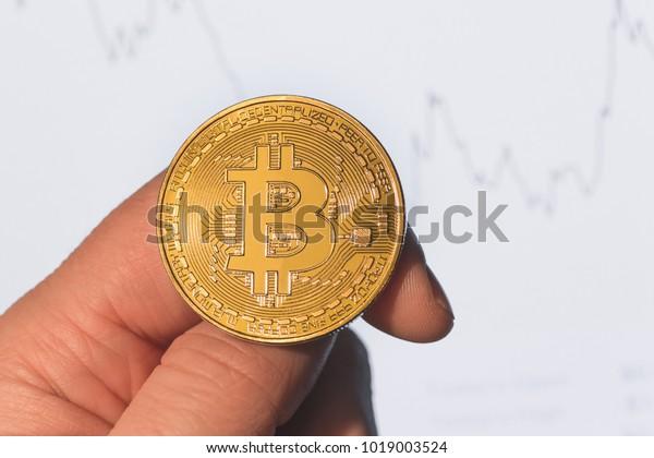 Crypto Currency Bitcoin Coin Token Flip Stock Photo (Edit Now