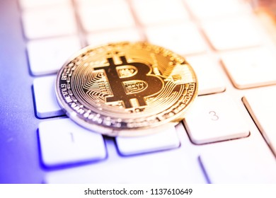 Crypto currency Bitcoin computer technology concept