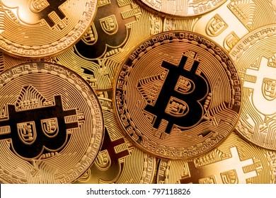 crypto currency bitcoin golden representation