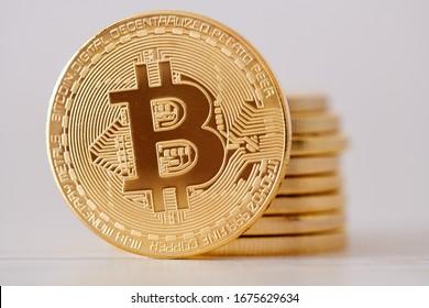 negocio de divisa criptográfica. concepto de financiación de monedas bitcoin
