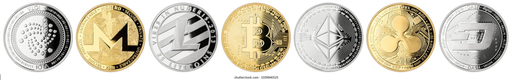 crypto currency coin set collection