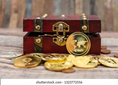Crypto currency was found in the treasure box