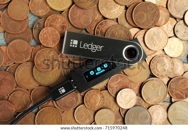 Cryptocurrencey hardware wallet on coins