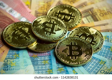 Cryptocurrency Bitcoin And Euro