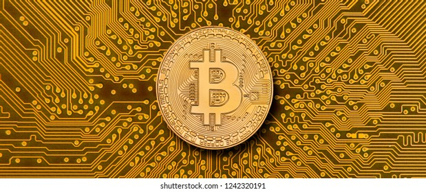 cryptocurrency bitcoin laying on computer network