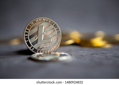 Cryptocurrency Coins  - Litecoin, Bitcoin, Ethereum