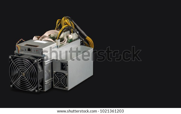 cryptocurrency mining black background