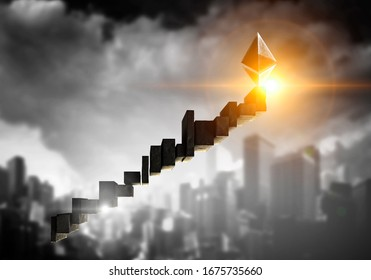 Cryptocurrency success ladder in the sky