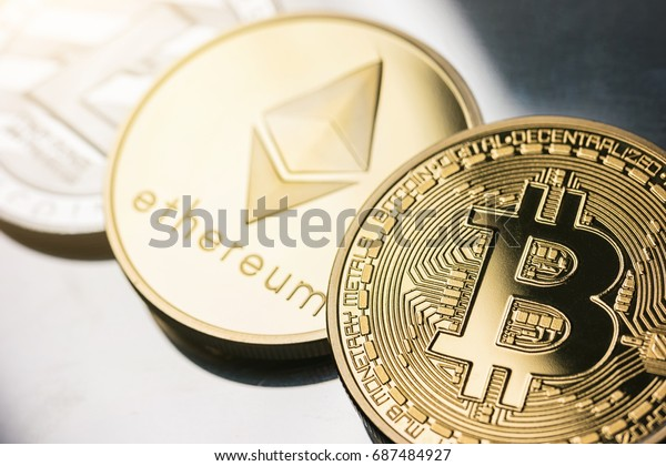 cryptocurrencys Bitcoin, Litecoin, Ethereum