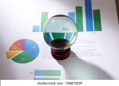 crystal ball on the business report