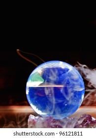 Crystal Ball surrounded in mist